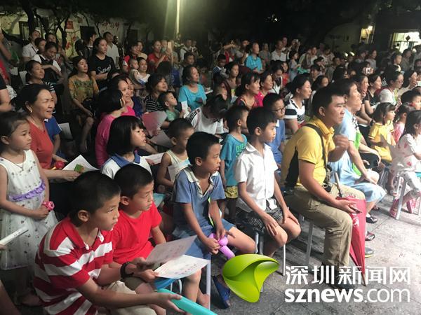 将舞台交给社区儿童 向南社区举办暑期少儿文艺晚会