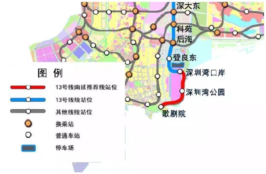 规划由深圳湾口岸站引出, 终止于后海大道东北侧